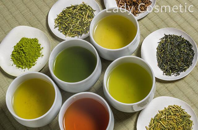 ポリフェノールの多い様々なお茶